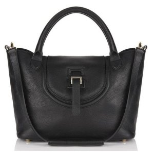 halo medium handbag in black
