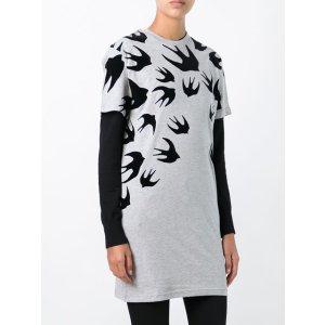 McQ Alexander McQueen 'Swallow' T-shirt Dress - Farfetch