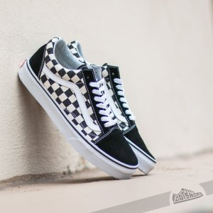 $80madewell x vans® unisex old skool lace-up sneakers in checked calf hair