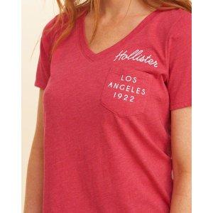 Girls Logo Graphic Pocket Tee | Girls Up to 50% Off Summer Sale | HollisterCo.com