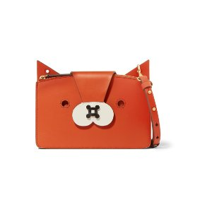 Fox leather shoulder bag