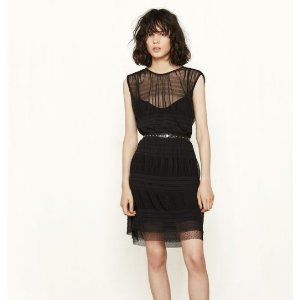 SHORT DRESS WITH SEE-THROUGH DETAILING