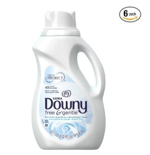$14.04 Downy Ultra Fabric Softener Free and Sensitive Liquid, 40-Load (34 fl. oz.) Bottle (Pack of 6)