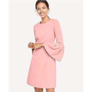 Bell Sleeve Flare Dress | Ann Taylor