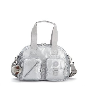Defea Metallic Handbag - Platinum Metallic | Kipling