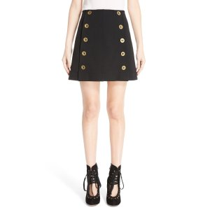 Chloé Button Front Punto Milano Skirt   Nordstrom