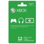12-Month Xbox Live Gold Membership Card