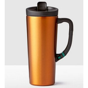 Stainless Steel Clip Tumbler - Orange