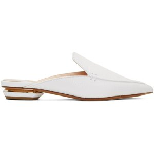 Nicholas Kirkwood: White Beya Slip-On Loafers