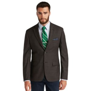 Signature Collection Tailored Fit Plaid Sportcoat - Big & Tall CLEARANCE