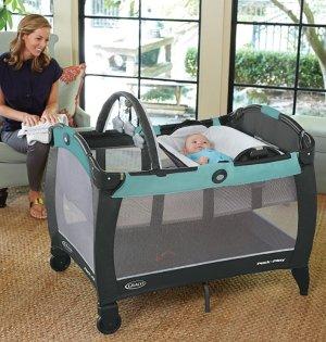 $69.26 史低价Graco Pack 'n Play 多功能婴幼儿游戏床/睡觉床/尿布更换台
