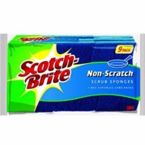 $9.45 Scotch-Brite Scrub Sponge, Non-scratch, 9-Count (Pack of 2)