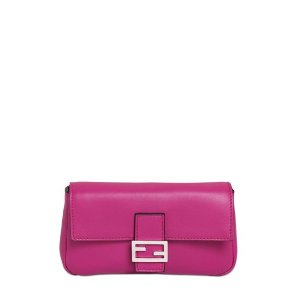 FENDI - MICRO BAGUETTE NAPPA LEATHER BAG - SHOULDER BAGS