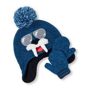 Toddler Boys Walrus Hat And Mittens Set | The Children's Place