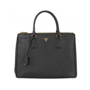 Prada Galleria Saffiano Lux Leather Bag - Black