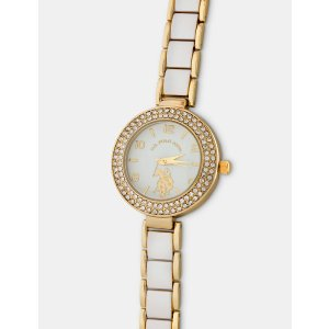 White and Gold Plated Watch - U.S. Polo Assn.
