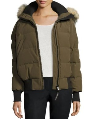 Canada Goose Savona Hooded Quilted Bomber Jacket @ Bergdorf Goodman