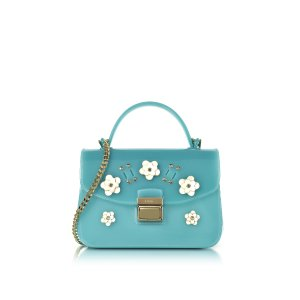 Furla Candy Lilla Turquoise Jelly Rubber Mini Bag