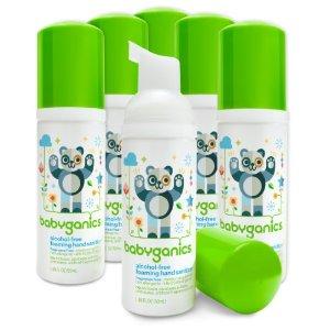 Babyganics On-The-Go Alcohol-Free Foaming Hand Sanitizer, Fragrance Free, 1.69 Fl Oz, 6 Pack | Jet.com