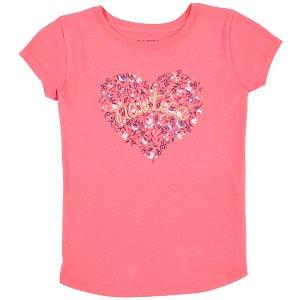 Girls' Floral Heart Tee (8-16)