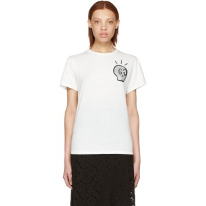 White 'Life Is Gucci' T-Shirt
