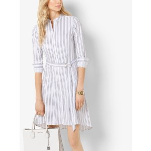 Striped Cotton-poplin Shirtdress | Michael Kors
