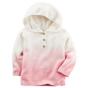 Baby Girl Dip-Dye Pullover Sweater | Carters.com