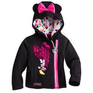 Minnie Mouse Fleece Zip Hoodie for Girls | Disney Store