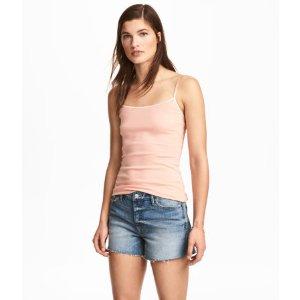 Jersey Camisole Top | Powder pink | Women | H&M US