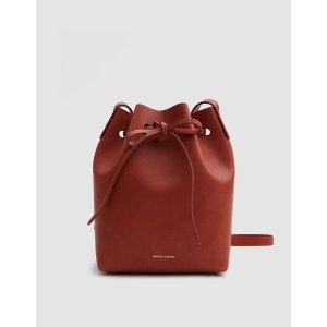 Mansur Gavriel / Mini Bucket Bag in Brandy/Avion