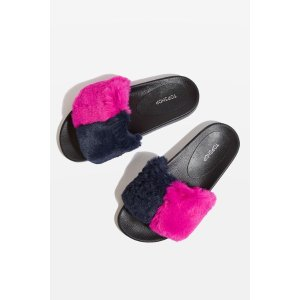 HARLOW Faux Fur Sliders - Flats - Shoes - Topshop USA
