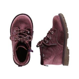 OshKosh Velvet Lace-Up Boots