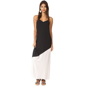 alice + olivia Maggie Paneled Maxi Slip Dress