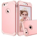 iPhone 6 Plus Case,iPhone 6s Plus Case PIXIU Shockproof Hybrid High Impact Hard Plastic+Soft Silicon Rubber Armor best iphone 6 plus cases Rose Gold