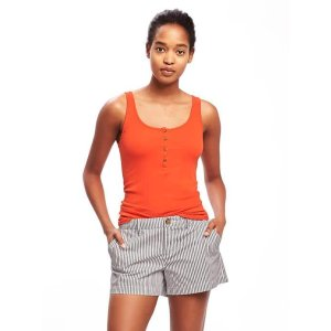 First-Layer Fitted Henley Tank for Women | Old Navy