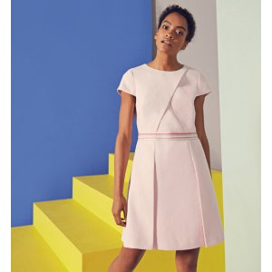 Colour block pleated dress - Pink | Dresses | Ted Baker