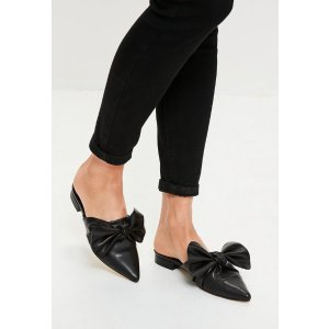 Black Knot Front Pointed Mules - Missguided