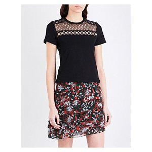 MAJE - Toby embroidered cotton-jersey T-shirt