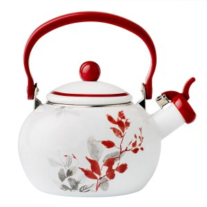 Coordinates® Kyoto Leaves 2-qt Whistling Tea Kettle