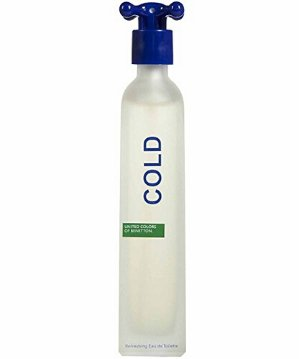 Cold By United Colors Of Benetton For Men. Eau De Toilette Spray 3.3 Ounce