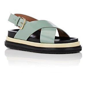 Marni Leather Crisscross-Strap Sandals   Barneys Warehouse