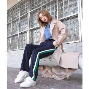 공기처럼 가벼운 배색 트랙팬츠 | 韩国女装NO.1网店 STYLENANDA 中文官网