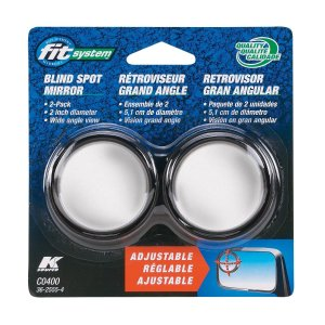 Fit System C0400 Driver/Passenger Side Stick-On Adjustable Blind Spot Mirrors – Pack of 2: Automotive