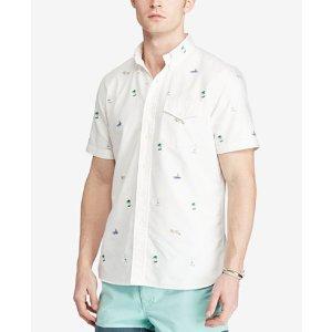 Polo Ralph Lauren Men's Standard-Fit Embroidered Short Sleeve Shirt