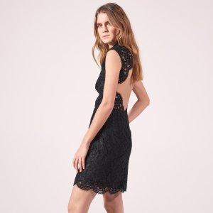Short Lace Backless Dress - Dresses - Sandro-paris.com