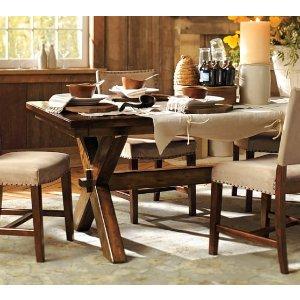Toscana Fixed Dining Table | Pottery Barn