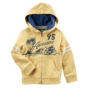 Kid Boy Moto French Terry Hoodie | OshKosh.com
