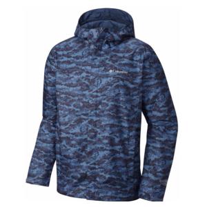 Men's Watertight Breathable Hooded Printed Jacket | Columbia.com