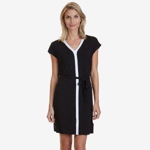 V-Neck Dolman Dress - True Black | Nautica