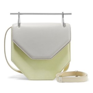 M2MALLETIER Amor Fati two-tone suede and leather shoulder bag